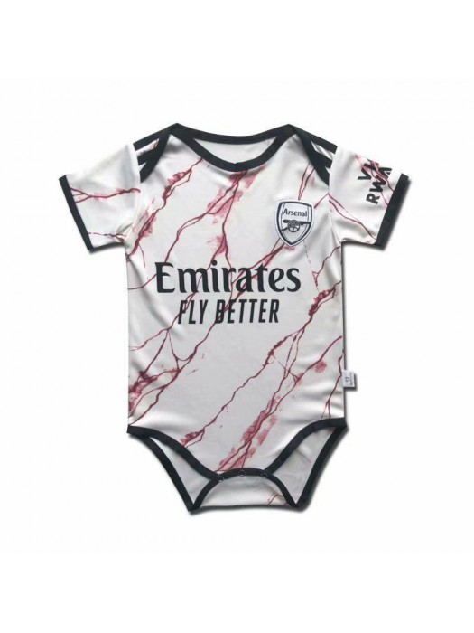 Arsenal Away Baby Onesie Jersey Jumpsuit 2020-2021