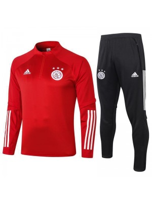 Ajax Half Zip Red Mens Training Soccer Tracksuit 2020-2021
