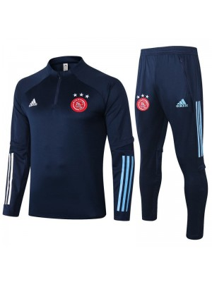 Ajax Kids Royal Blue Half Zip Soccer Tracksuit Sportswear 2020-2021