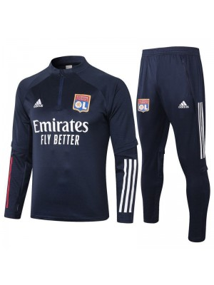 Olympique Lyon Royal Blue Soccer Football Tracksuit 2020-2021