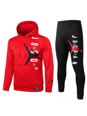 Jordan Air Paris Saint-Germain Red Hoodies Tracksuit 2020-2021