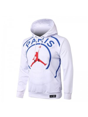 Jordan Big Logo Paris Saint-Germain White Soccer Hoodies Football Tracksuit 2020-2021