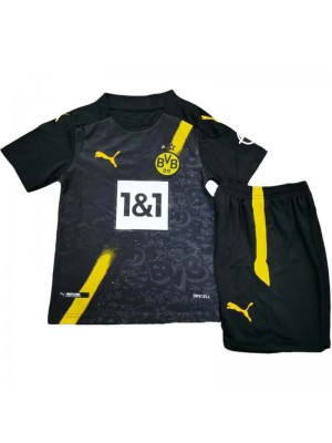 Borussia Dortmund Away Kid Kit Soccer Jersey Football Shirts Child Uniforms 2020-2021