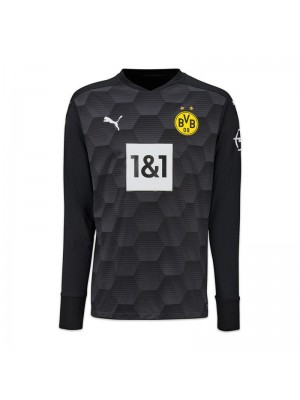 Borussia Dortmund Goalkeeper Black Long Sleeve Soccer Jersey Football Uniforms 2020-2021