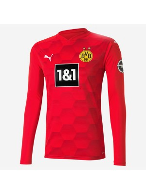 Borussia Dortmund Goalkeeper Red Long Sleeve Soccer Jersey Football Uniforms 2020-2021