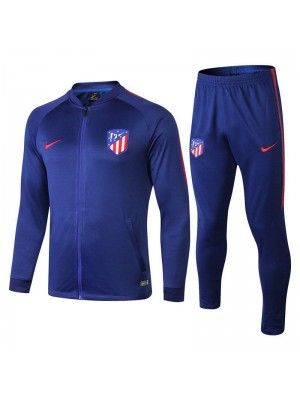 Atletico De Madrid Blue Printed Sleeve Tracksuit 2018/2019