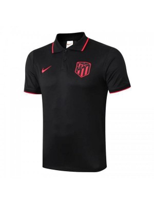 Atletico Madrid Polo Football Training Jersey Soccer Black Sportwear T-shirt 2019-2020