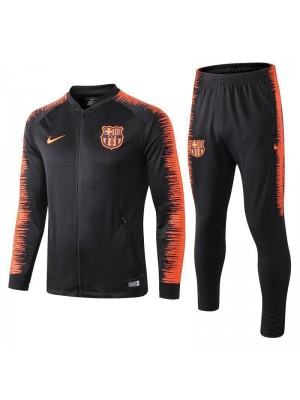 Barcelona Black Printed Sleeve Tracksuit 2018/2019