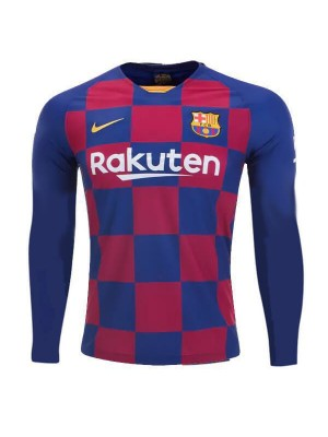 Barcelona Home Long Sleeve Jersey Mens Football Shirt 2019-2020