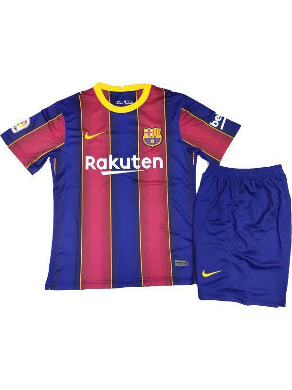 Barcelona Home Soccer Jersey Kids Kit First Football Suit 2020 2021