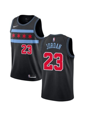 Chicago Bulls Michael Jordan 23# Jersey Black 2018/2019