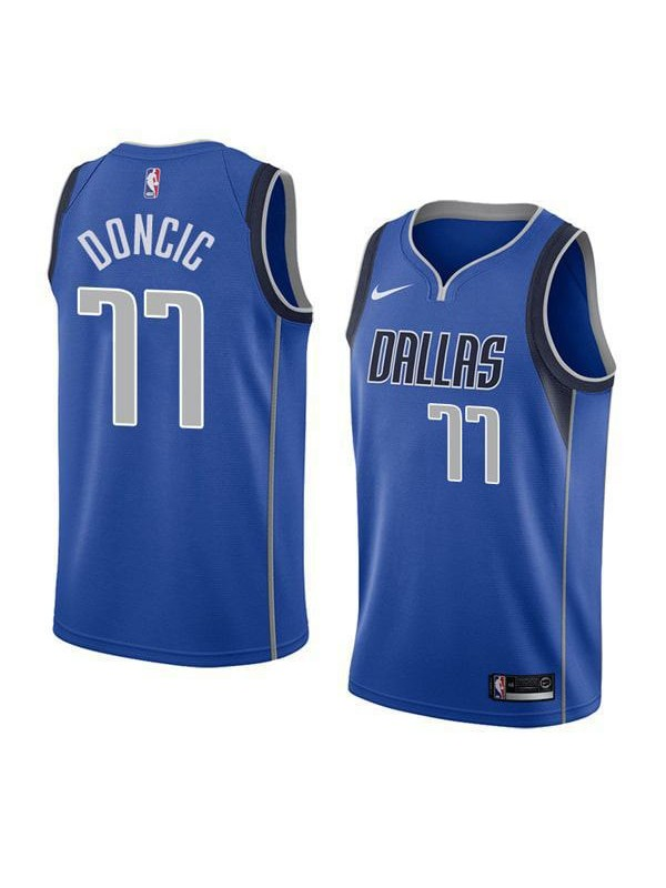 premium selection c43b5 46830 Dallas Mavericks Luka Doncic 77# Jersey Blue 2018/2019