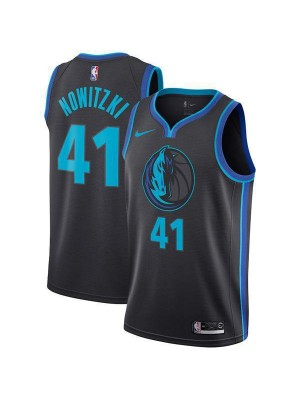 Dallas Mavericks Nowitzki 41# Jersey Black 2018/2019