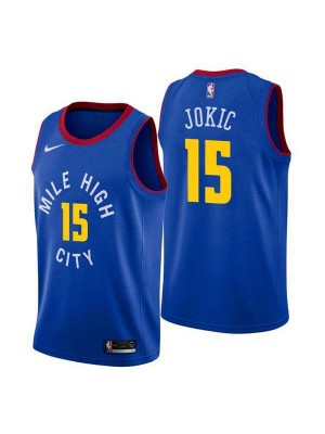 Denver Nuggets Nikola Jokic 15# Jersey Blue 2018/2019