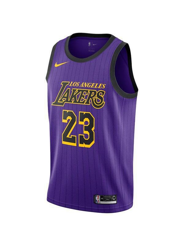 release date: 94b40 0eac6 Los Angeles Lakers 23# LeBron James Jersey Purple 2018/2019