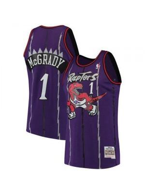 Toronto Raptors Mens Tracy McGrady 1# Purple Basketball Jersey
