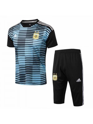 Argentina Men Blue Short Training Suit Kit 2018/2019