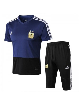 Argentina Men Pure Blue Short Training Suit Kit 2018/2019