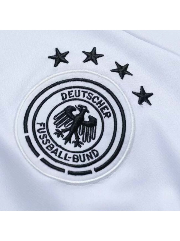 German White V-neck Tracksuit 2019-2020