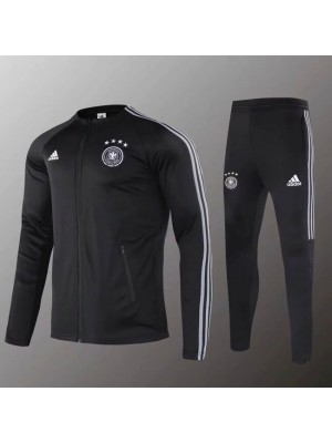 Germany National Team Black Round Necked Jacket Kit 2019-2020