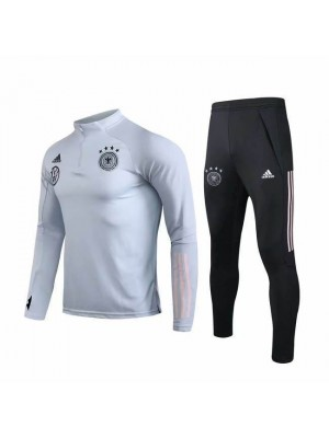 Germany White Zipper Soccer Tracksuit VW Logo 2019-2020