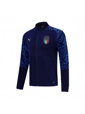 Italy Royal Blue Jacket Dark Blue Printing 2019-2020