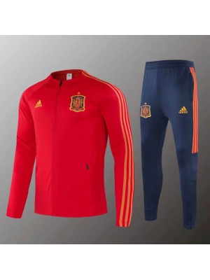 Spain National Team Football Mens Red Soccer Jacket Kit 2019-2020