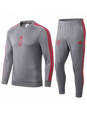 Ajax Gray Round Neck Tracksuit 2019-2020