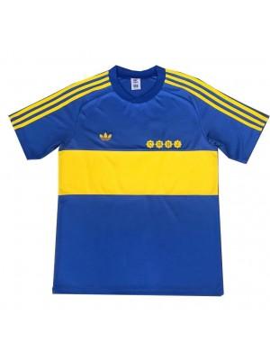 Boca Juniors Retro Home Soccer Jerseys Mens Football Shirts Uniforms 1981