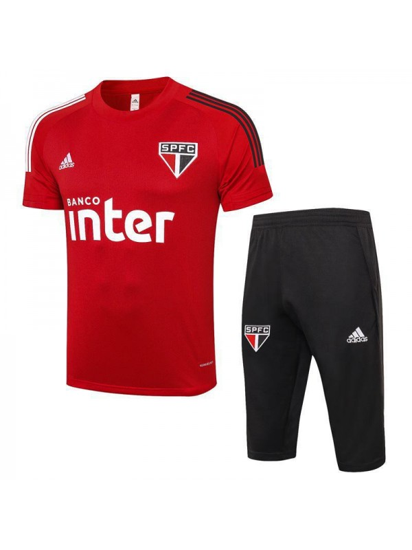 Sao Paulo Red Training Soccer Jerseys Mens Football Shirts 2020-2021