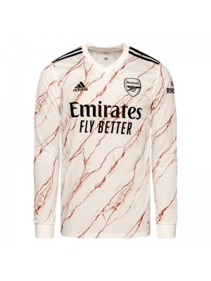 Arsenal Away Long Sleeve Soccer Jersey Match Mens Sportwear Football Shirt 2020-2021