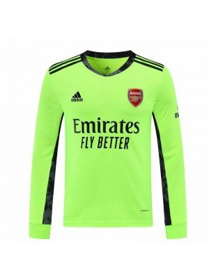Arsenal Goalkeeper Green Long Sleeve Soccer Jersey Match Mens Sportwear Football Shirt 2020-2021