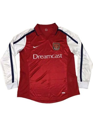 Arsenal Home Retro Jersey Mens First Soccer Sportwear Football Long Sleeves 2000