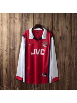Arsenal Retro Home Long Sleeve Soccer Jerseys Mens Football Shirts Uniforms 1998