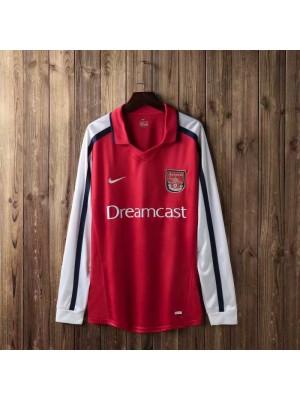 Arsenal Retro Home Long Sleeve Soccer Jerseys Mens Football Shirts Uniforms 2000