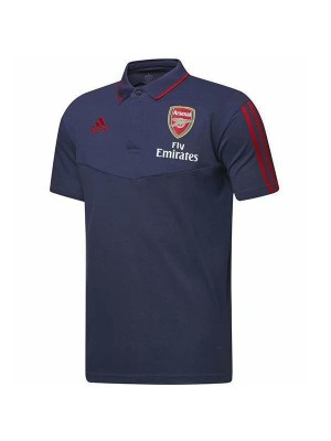 Arsenal Polo Football Training Jersey Soccer Navy Sportwear T-shirt 2019