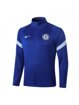 Chelsea Blue High Neck Long Zipper Jacket Tracksuit Sportswear Training Wear 2020-2021