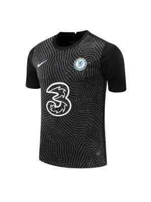 Chelsea Black Goalkeeper Soccer Jersey Football Uniforms 2020-2021