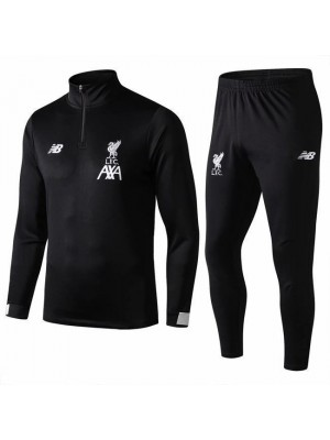 Liverpool Black Hight-Neck Tracksuit 2019-2020