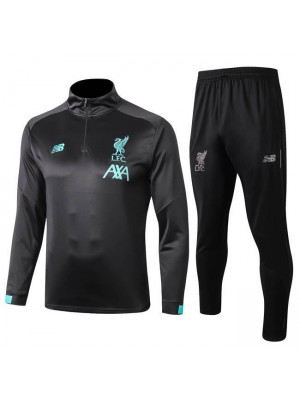 Liverpool Dark Gray Long Sleeves Tracksuit 2019-2020