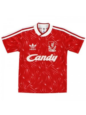 Liverpool Retro Red Soccer Jersey Mens Football Shirts 1989-1991