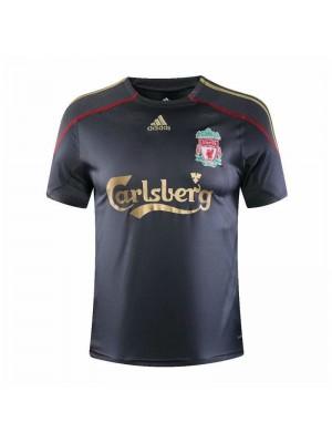 Liverpool Away Retro Mens Soccer Jersey Football Shirt 2009-2010