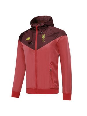 Felpa con cappuccio Liverpool Windbreaker Hoodie Red Soccer Coat 2019-2020