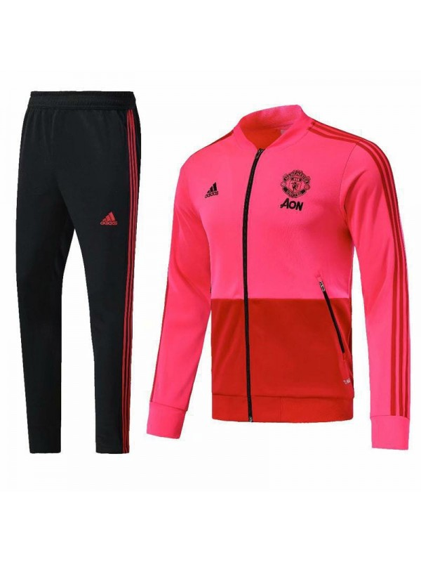 manchester united pink tracksuit 2018 2019 soccish soccer kits