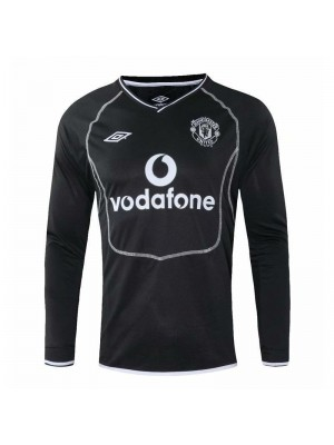Manchester United Away Long Sleeve Retro Mens Soccer Jersey Football Shirt 2000