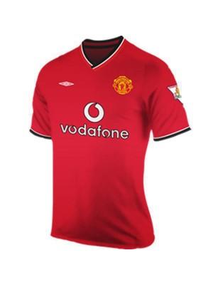 Maglia da calcio vintage Manchester United Home Retro Jersey 2000-2001