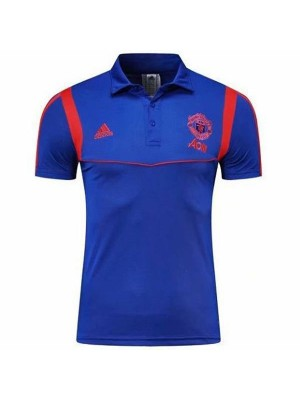 Manchester United Polo Jersey Blue Shirt 2019-2020