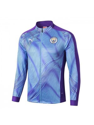 Manchester City Blue Jacket Full Zipper Mens Training Kit 2019-2020