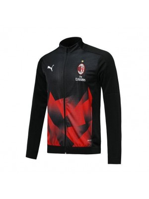 AC Milan Black Soccer Jacket Red Printing 2019-2020