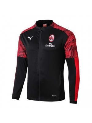 AC Milan Black Long Zipper Jacket 2019-2020
